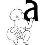 Baby ammer på a-bryst
